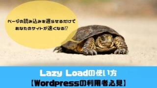 Lazy Loadの使い方 アイキャッチ