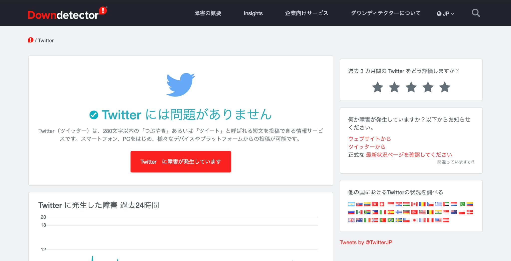 Twitter 障害 確認方法